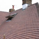 An example of the clay tile roof with Velux window