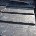 An example of a flat lead roof